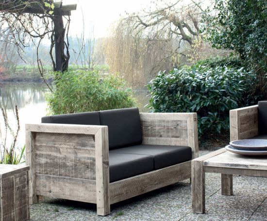 gartenm bel aus altem holz. Black Bedroom Furniture Sets. Home Design Ideas